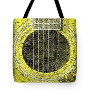 Yellow Guitar - Digital Painting - Music Tote Bag