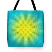 Optical Illusion - Yellow On Aqua Tote Bag
