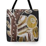 Yellow Head Brown Owl Bird On The Tree Tote Bag