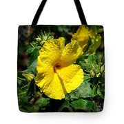Yellow Hibiscus Hawaii State Flower Tote Bag