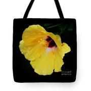 Yellow Hibiscus In The Rain Tote Bag
