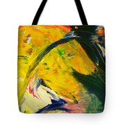 Yellow Horse Tote Bag
