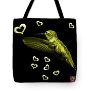 Yellow Hummingbird - 2055 F M Tote Bag