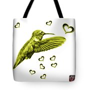 Yellow Hummingbird - 2055 F S M Tote Bag