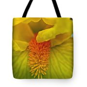 Yellow Iris Beard Tote Bag