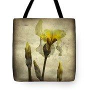 Yellow Iris - Vintage Colors Tote Bag