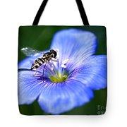 Blue Flax Flower Tote Bag