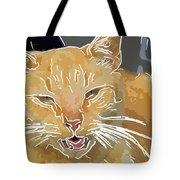 Yellow Kitty Tote Bag