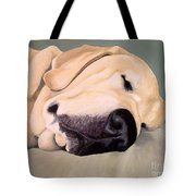 Yellow Lab - A Head Pillow Is Nice Tote Bag