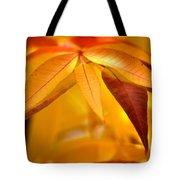 Yellow Leaves At Dawn Tote Bag
