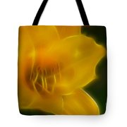 Yellow Lily 6069-fractal Tote Bag
