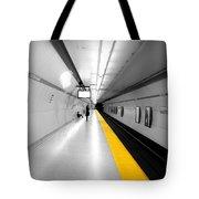 Yellow Line Tote Bag
