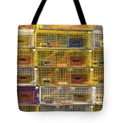 Yellow Lobster Traps In Maine Tote Bag