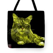 Yellow Maine Coon Cat - 3926 - Bb Tote Bag