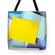 Yellow Memo Tote Bag by Carlos Caetano