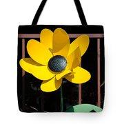 Yellow Metal Garden Flower Tote Bag