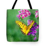 Yellow Monarch Butterfly Tote Bag