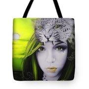 Yellow Moon Tote Bag