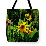 Yellow Mountain Flowers Tote Bag