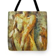Yellow Nude Tote Bag