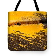 Yellow Ochre Paint Spill 01 Tote Bag