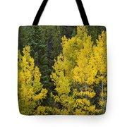 Yellow On Green Tote Bag