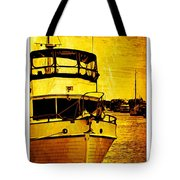 Yellow On The Water Tote Bag