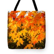 Yellow Orange Fall Tree Tote Bag