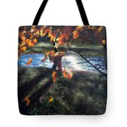 Yellow Orange Leaves Tote Bag