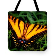 Yellow Orange Tiger Swallowtail Butterfly Tote Bag