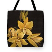 Yellow Orchid Tote Bag