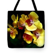Yellow Orchids Shadow And Light Tote Bag