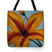 Yellow Oriental Lily Tote Bag