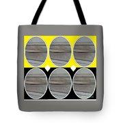 Yellow Oval Tote Bag