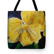 Yellow Pansy Tote Bag
