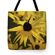 Yellow Paper Flower Tote Bag