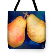 Yellow Pears On Blue Number Two Tote Bag