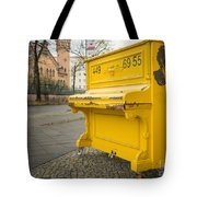 Yellow Piano Beethoven Tote Bag
