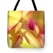 Yellow Pink Orchid Tote Bag