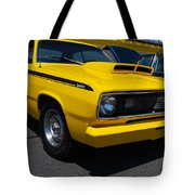 Yellow Plymouth Duster Tote Bag