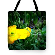 Yellow Poppy Xl Format Floral Photography Tote Bag
