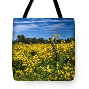 Yellow Profusion Tote Bag