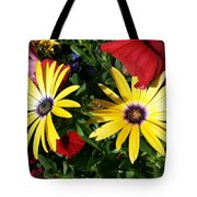 Yellow Punch Tote Bag