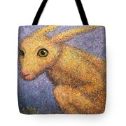 Yellow Rabbit Tote Bag