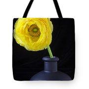 Yellow Ranunculus In Black Vase Tote Bag