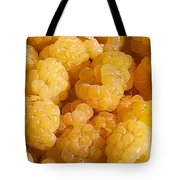 Yellow Raspberry Abstract Tote Bag