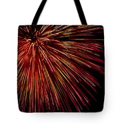 Yellow Red Firework Explosion Tote Bag
