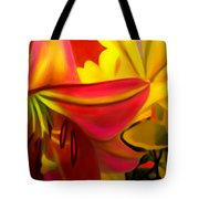 Yellow Red Kiss Tote Bag
