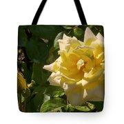 Yellow Rose And Bud Tote Bag