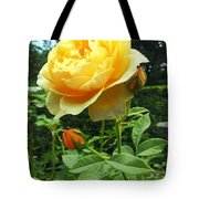 Yellow Rose And Buds Tote Bag